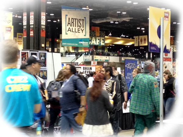 Artist Alley is where most of the energy could be found.